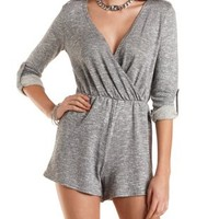 Surplice Neck Romper by Charlotte Russe