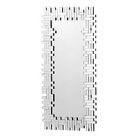 A11123 Puzzled Rectangular Mirror Clear