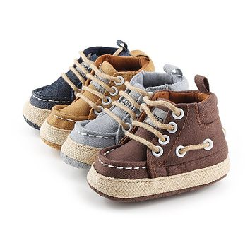 Baby Shoes Boy Girl High Top Shoe Infant Newborn Soft Casual Canvas Shoe Children Boots Kids Booties Bebe Sapatos Sport Sneakers