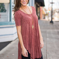 Suited For Sass Tunic, Brick
