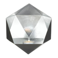 Geometric Candle Wall Sconce - Silver