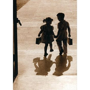 Anniversary Greeting Card  - Kids Hold Hands