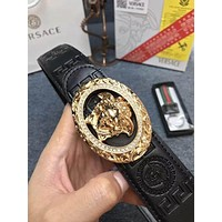 Versace Popular Woman Men Logo Buckle Leather Belt I