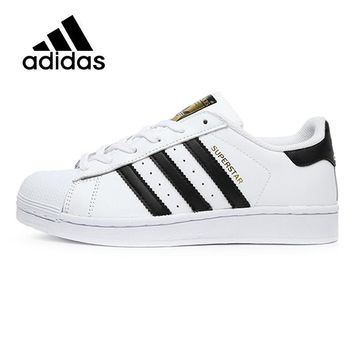 ADIDAS Original  New Arrival SUPERSTAR Black White Womens Skateboarding Shoes Comfortable Street All Season For Women#C77154