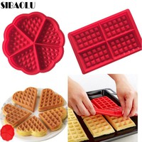 Silicone Molds DIY baking tools kitchen item heart shaped waffle mold silicone cake mold Kitchen Accessories