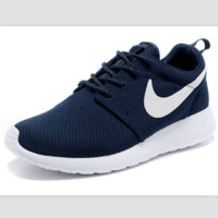 """NIKE"" roshe Trending Fashion Casual Sports A Simple yet Powerful Style Nike Shoes Dark blue"