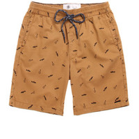 On The Byas Will Printed Twill Shorts at PacSun.com