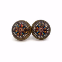 Old World Sundial or Compass Earrings