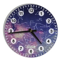 """Constellations Color All Over 8"""" Round Wall Clock with Numbers All Over Print"""