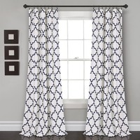 Moroccan Medallion Room Darkening Window Curtains