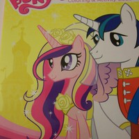 My Little Pony Friendship is Magic Jumbo Coloring & Activity Book ~ Side by Side, Princess Cadance & Shining Armor