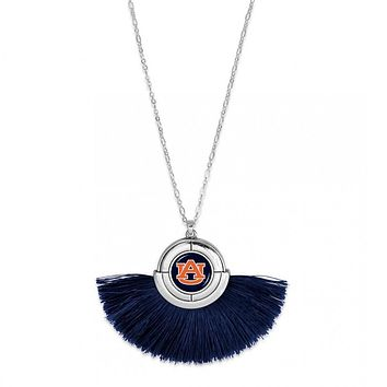 University of Auburn Tigers Game Day Tassel Necklace