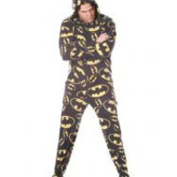 Batman Adult size Footed Onesuit Pajamas