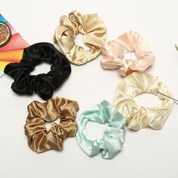 Satin Silk Elastic Scrunchies