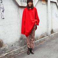 SIBUYA knit 131830 < over fit round knit < FASHION / CLOTHES < WOMEN < KNIT&CARDIGAN < knit