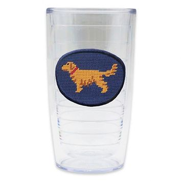 Golden Retriever Needlepoint Tumbler by Smathers & Branson