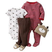 Carter's Reindeer Sleep & Play Set - Baby Boy, Size: 6 MONTHS (Brown)