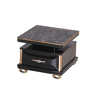Trendy Small Contemporary Coffee Table with Glass Top