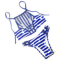 Hollow out Halter Gauze Swimwear Swimsuit Bikini