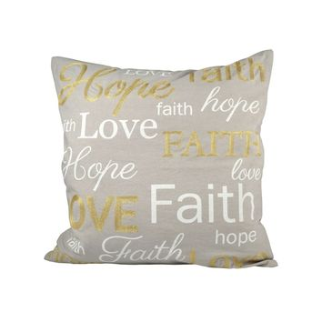 Expressions 20x20 Pillow Chateau Graye,Gold,White