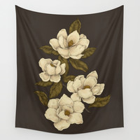 Magnolias Wall Tapestry by Jessica Roux