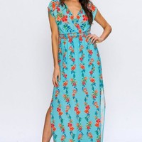 Wrapped Top Maxi Dress