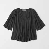 PINTUCK PEASANT TOP