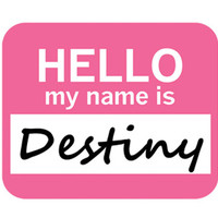 Destiny Hello My Name Is Mouse Pad