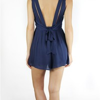 Carpe Diem Romper in Navy