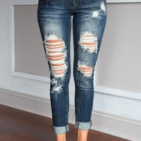 Destiny Wash Crop Denim Jeans
