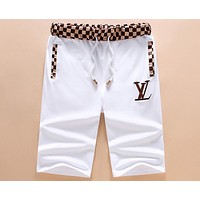 LV Louis Vuitton 2018 summer new men's beach pants pants F-A00FS-GJ White