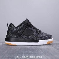 Air Jordan 4 SE Laser ¡°Black Gum¡± Toddler Kid Shoes Child Sneakers