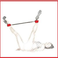 SPREADER BAR with CUFFS ONLY for NAUGHTY Submissive . Red Unisex BDSM . Made in US