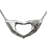 """Women's """"Friendship Rose Necklace"""" by Controse (Silver)"""
