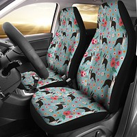 Boston Terrier Flower Car Seat Covers
