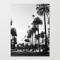 Los Angeles Black and White Canvas Print by tamsinlucie