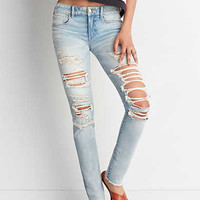 AEO Denim X4 Skinny Jean, Crushed Ice
