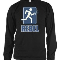 Amazon.com: Rebel, Running With Scissors Mens Thermal Shirt, Funny Trendy Hot Mens Long Sleeve Thermal Shirt: Clothing