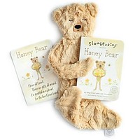 Slumberkins Gratitude Bundle- Honey Bear Silken Plush