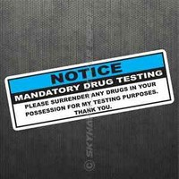 Funny Drug Test Notice Vinyl Decal Bumper Sticker Weed Decal Fit Jeep Ford Dodge
