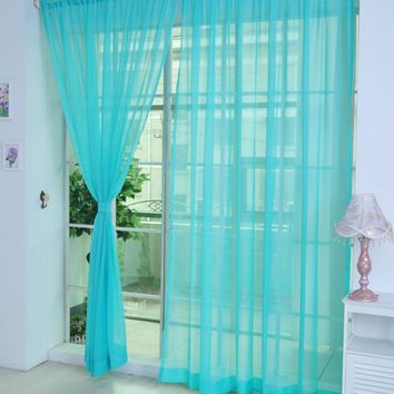 Modern Solid Tulle Curtains For Living Room Transparent Tulle Curtains Window Sheer For The Wedding Bedroom Decoration Supplies