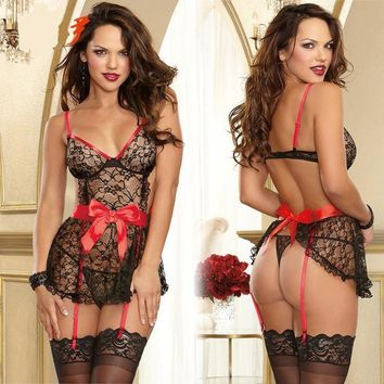 On Sale Cute Hot Deal Sexy Lace Butterfly Spaghetti Strap Exotic Lingerie [11407008975]