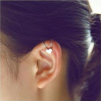 ES678 Fashion Unicorn Brincos News Girls Earing Bijoux Aros Heart Clip Ear Cuff Earrings For Women Jewelry Earings One Direction
