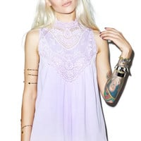 Rise of Dawn Lilac and Lace Playsuit
