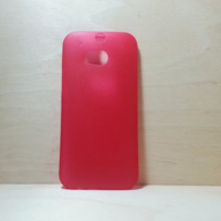 Super Slim Hard Plastic Case for HTC One M8 Frosted Red