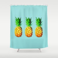 Fresh pineapples  Shower Curtain by Yilan