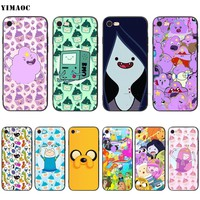 YIMAOC Adventure Time Finn Jake Silicone Soft Case for iPhone XS Max XR X 8 7 6 6S Plus 5 5S SE