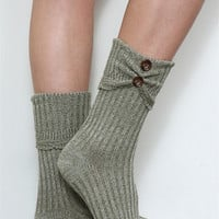 WB Crew Scrunch Button Sock
