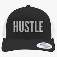 Hustle  Embroidered Retro Embroidered Trucker Hat