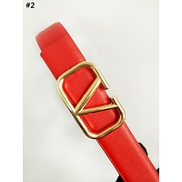 Valentino new women's simple classic letter buckle belt #2